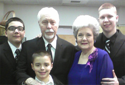 Papa, Nana and the grandsons